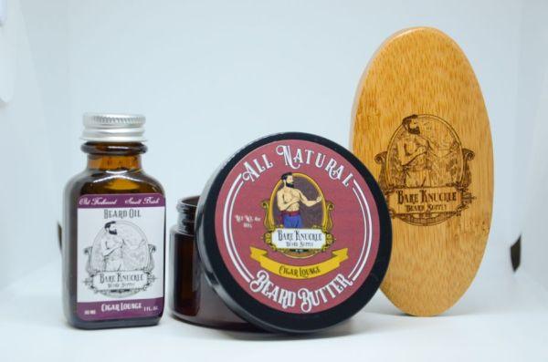 Cigar Lounge Beard Butter and Beard Oil with Brush