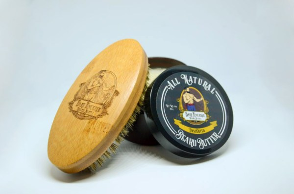 All Natural Beard Butter - Unscented with Beard Brush