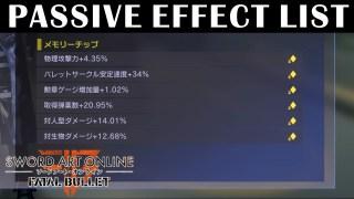 Passive Effect List