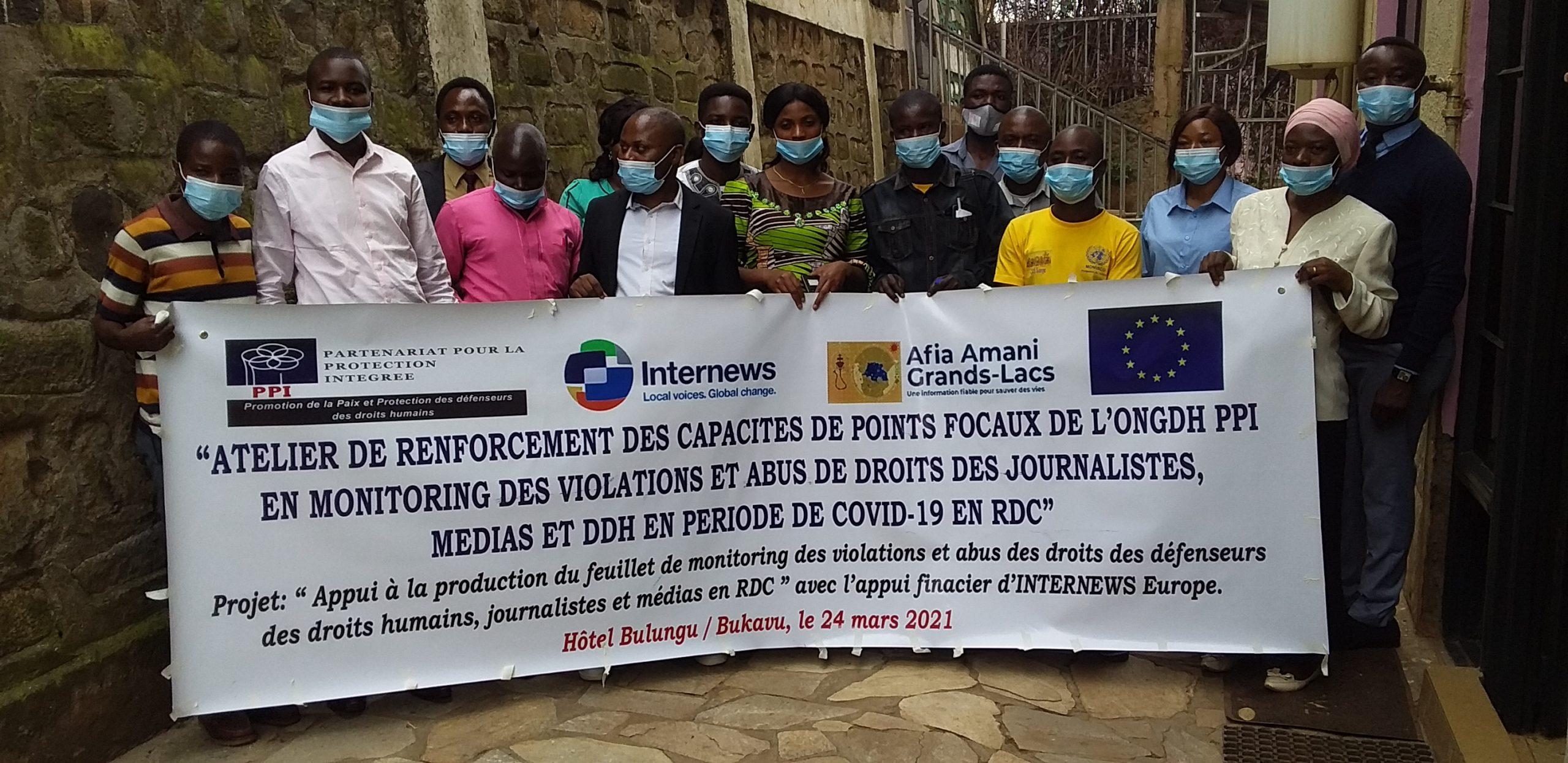 Bukavu : PPI interdit aux DDH et journalistes de publier les données depuis le terrain.