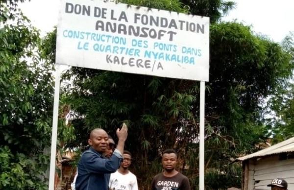 Bukavu  : La Fondation Anansoft,  rehabilite des infrastructures de plusieurs quartiers de Cimpunda .