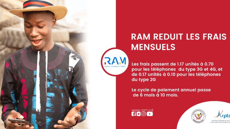 RDC : Le Registre des appareils mobiles (RAM) réduit ses frais