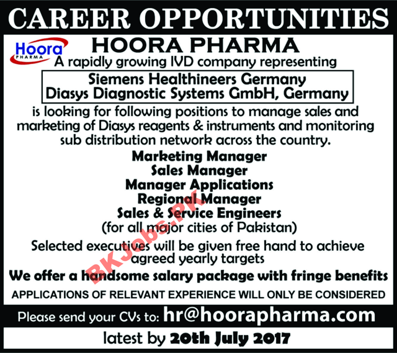 Hoora Pharma Ivd Company Germay Jobs For Sub Distribution