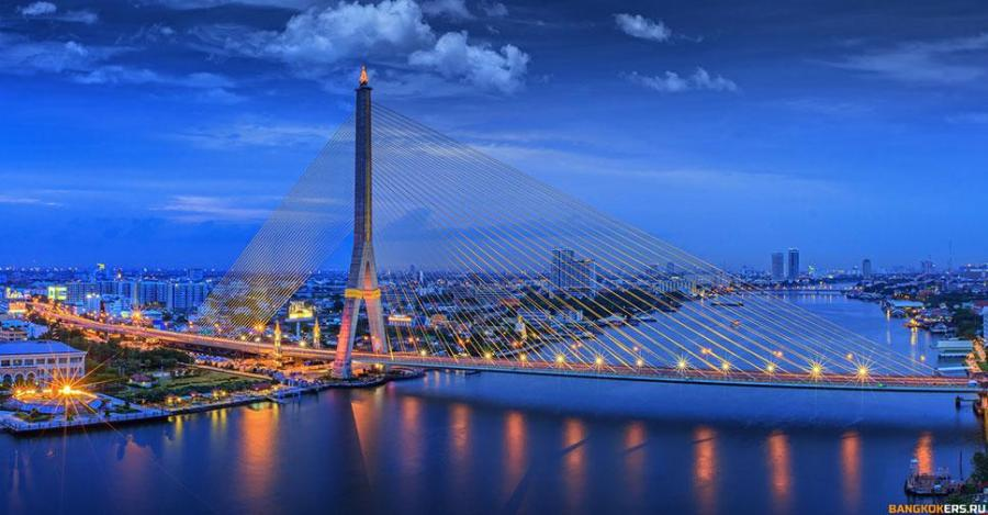 Мост Рамы VIII через реку Чаопхрайя в Бангкоке