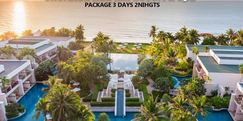 【泰國國遊】飯店套裝:Sheraton Hua Hin Resort & Spa 華欣喜來登度假飯店3 天 2 夜自由行包套行程