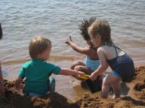 Cousins at the beach.