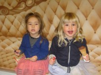 Emma and Nora enjoying ice cream because of Nora's increased participation.