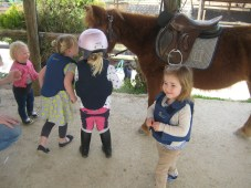 Horse back ride with friends.