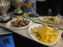 Nora's favourite are the mussels, and Brendan's favourite are the boquerones.