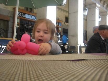 Nora and a balloon.