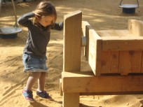 Nora's favourite thing to do is play at any and all playgrounds but this is one of her favourites.