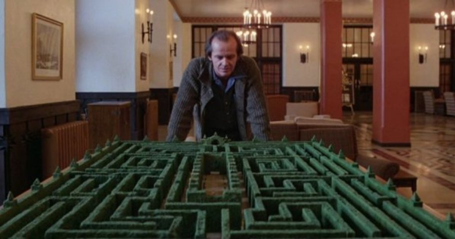 Miniature model hedge maze, from The Shining (1980)