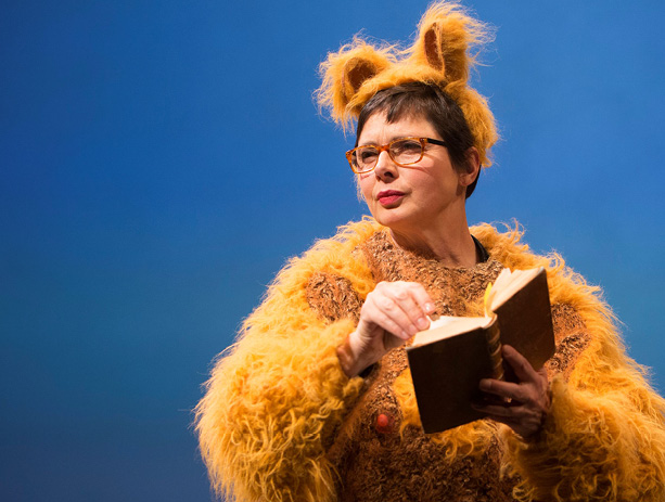"""Isabella Rossellini plays in """"Green Porno"""" at BAM"""