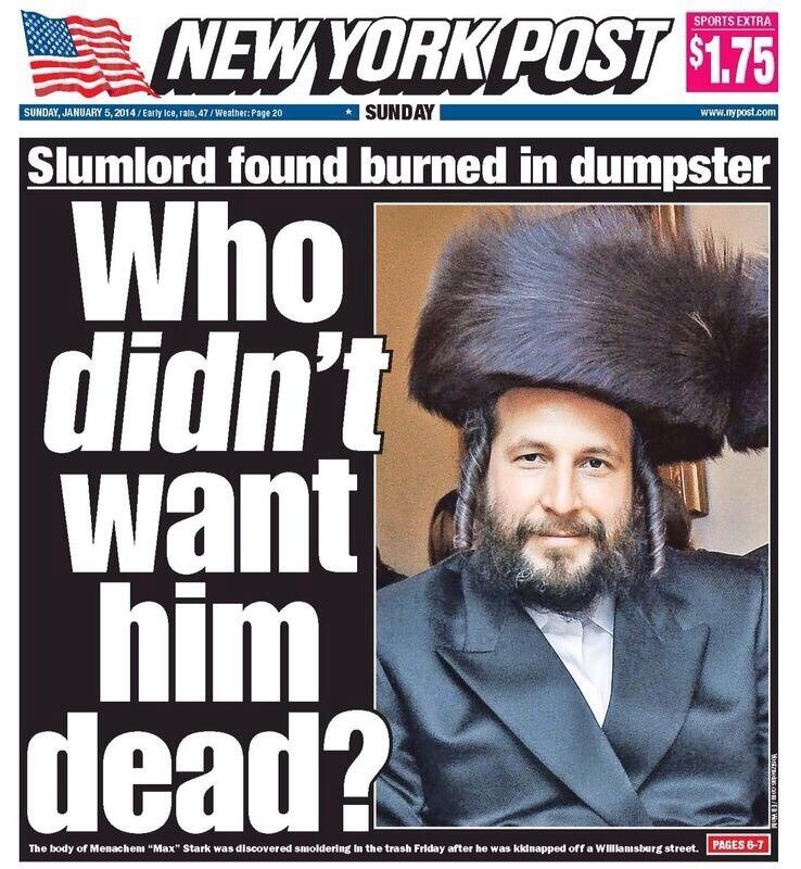 """New York Post: """"Who Didn't Want Him Dead?"""""""