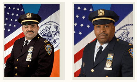 (l) Maximo Tolentino, commanding officer, 84th Pct and (r) Scott Henderson, commanding officer, 88th Pct. will address the audience, offer statistics and answer questions in detail.