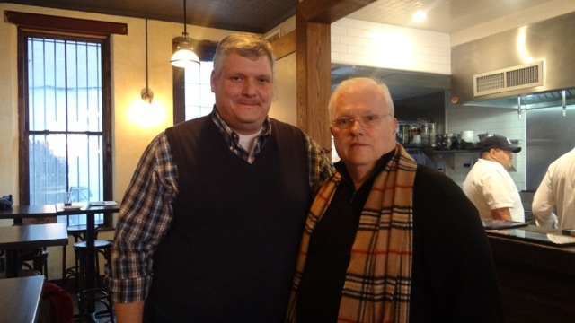 Richard Winter, CEO of The Runner restaurant and his father