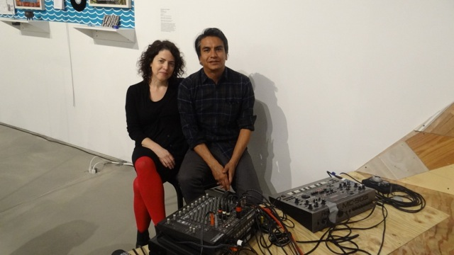 """Valerie Tevere (left) and Angel Nevarez at BRIC Media Art House where they hosted """"Another Protest Song Karaoke"""""""