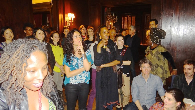 """At the """"Art and Abolition"""" fundraiser on March 22, in Bed-Stuy."""