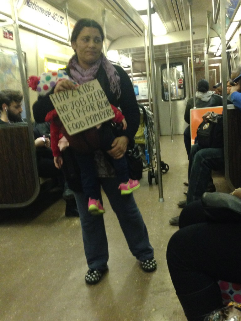 Panhandling Mother on the train