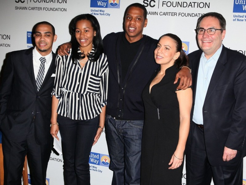 Pedro Hernandez, Bianca Darby-Bell, Jay-Z, Dania Diaz, Gordon J. Campbell United Way of New York and Shawn Carter Scholarship Foundation Press Conference Photo credit: PNP / WENN
