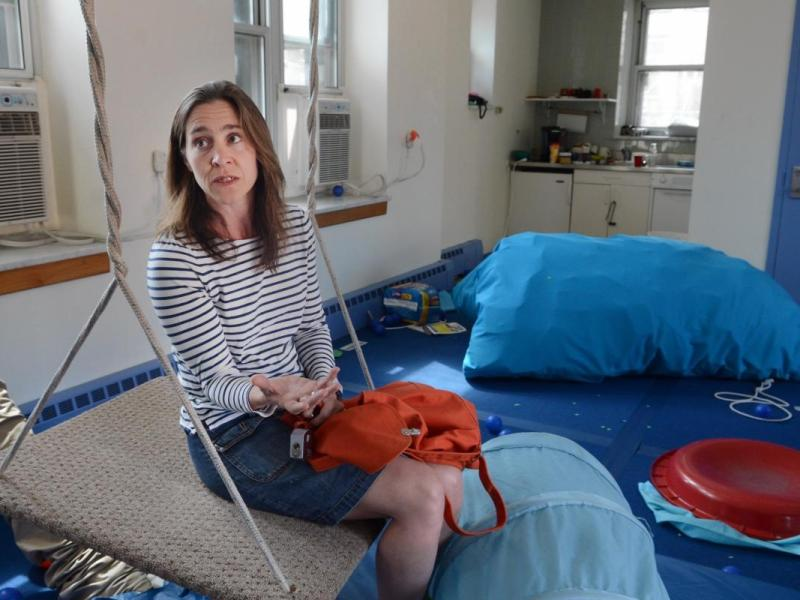 Eliza Factor, founder of Extreme Kids and Crew, a Clinton Hill play space for children with special needs, could hardly believe her eyes. Her non-profit organization had been broken into and vandalized Easter morning. Photo: