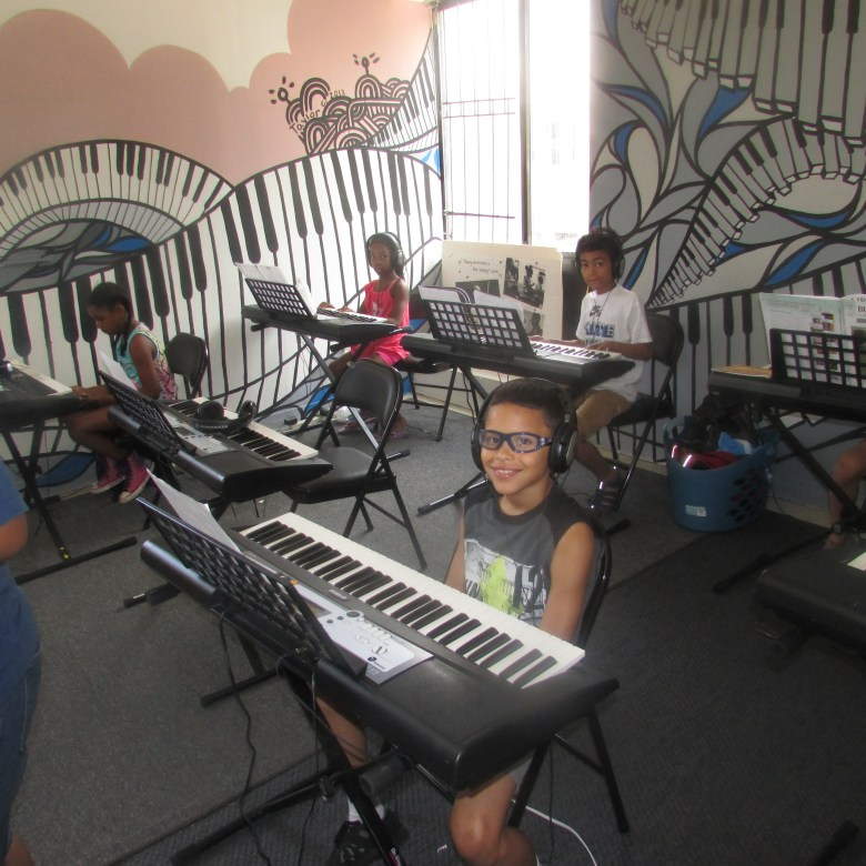 At a rehearsal for the Noel Pointer Foundation Photo: Jada Martin-Capers