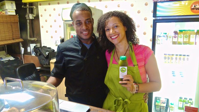 Husband and wife team Carl Foster and Kelly Keelo, co-owners of Juice Hugger