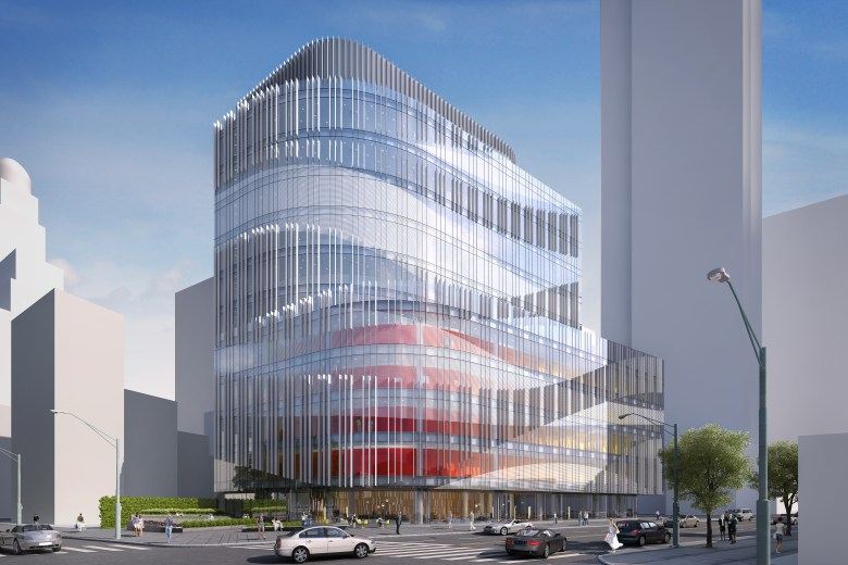 The first renderings for The Health Center, Inc. going up at 620 Fulton Street in the fast-developing Brooklyn Cultural District