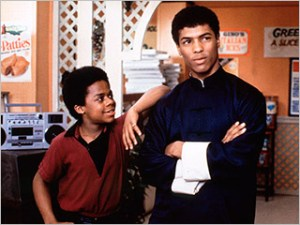 """Bruce Leroy Green (r) and his little brother Richie Green, from the movie, """"The Last Dragon"""""""