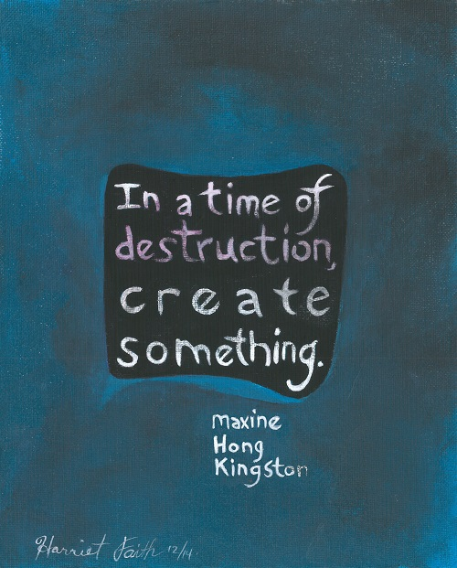Art, Hand-Lettering, Illustration, Harriet Faith, Painting, Success, Motivation, Daily Practice, Inspiration, Quotes, Dreams, Pay Attention To Your Dreams, Maxine Hong Kingston, Create, Creativity