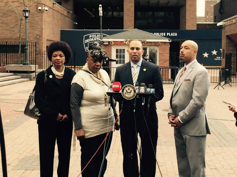 Hakeem Jeffries, Excessive Use of Force Prevention Act of 2015, Gwen Carr, Kirsten Foy, National Action Network, chokeholds, police brutality, legislation, introduction