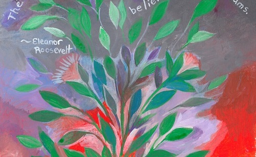 Art, Hand-Lettering, Illustration, Harriet Faith, Painting, Drawing, Success, Motivation, Daily Practice, Inspiration, Quotes, Dreams, Pay Attention To Your Dreams, Eleanor Roosevelt, Beauty, Believe, Future, Believe in Your Dreams