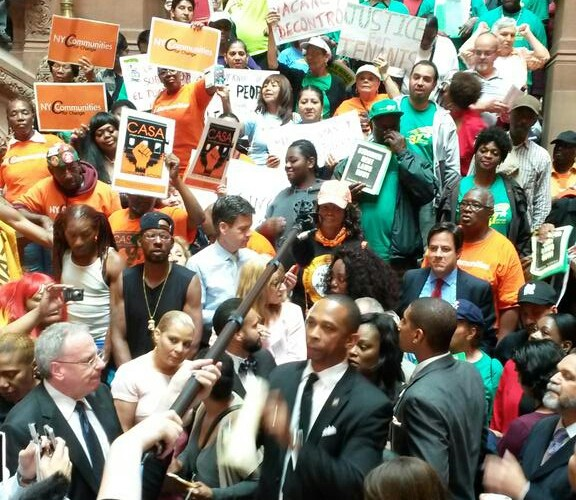 Mosley Fires Up Crowd At Rally In Albany For Stronger Rent Laws