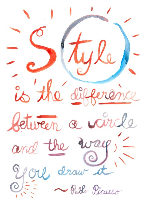 Harriet Faith, Art, Illustration, Pay Attention To Your Dreams, Quotes, Inspiration, Motivation, Dreams, Hand Lettering, Drawing, Painting, Critical Thinking, Intuition, Inner Knowing, Pablo Picasso, Style, Originality, Circle