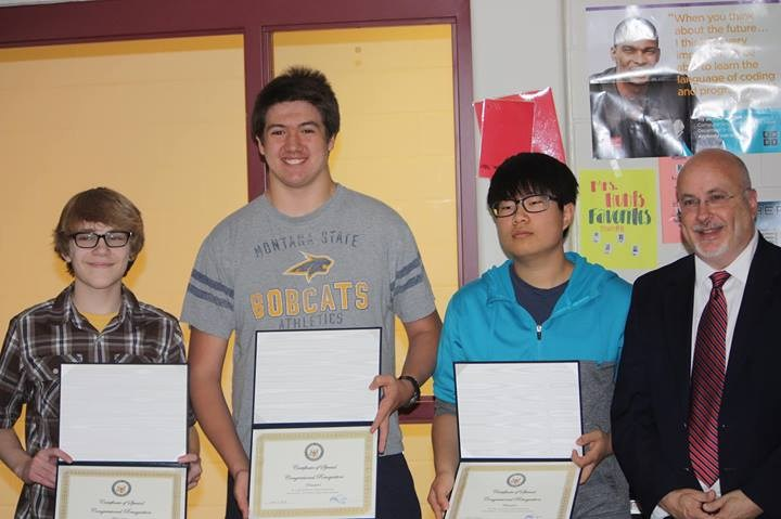 Team winners of the Middleton-Cross Plains Area School Congressional App Competition