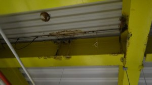 Rust and water damage in the ceilings of the room of the afterschool program that need to be fixed