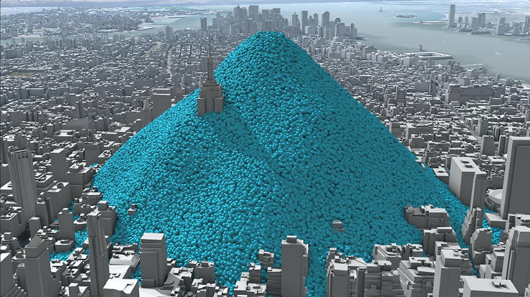 What New York City Would Look Like Buried In Its Own Carbon Emissions