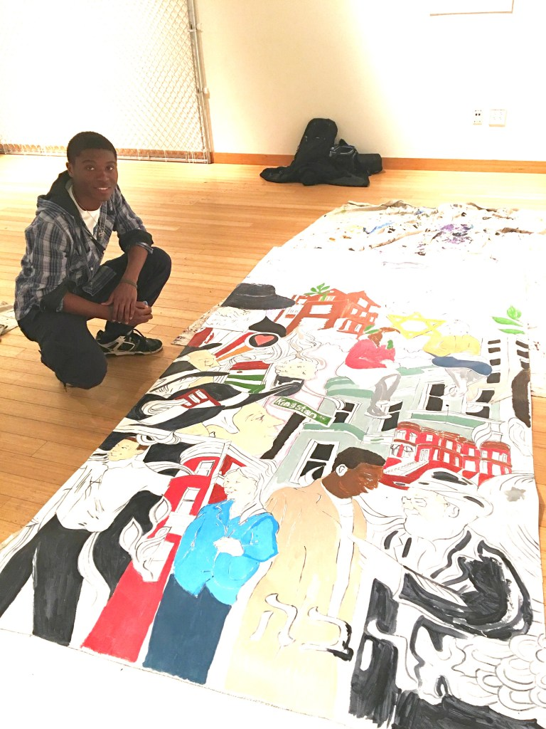 Nathaniel James, youth artist for the art program Groundswell