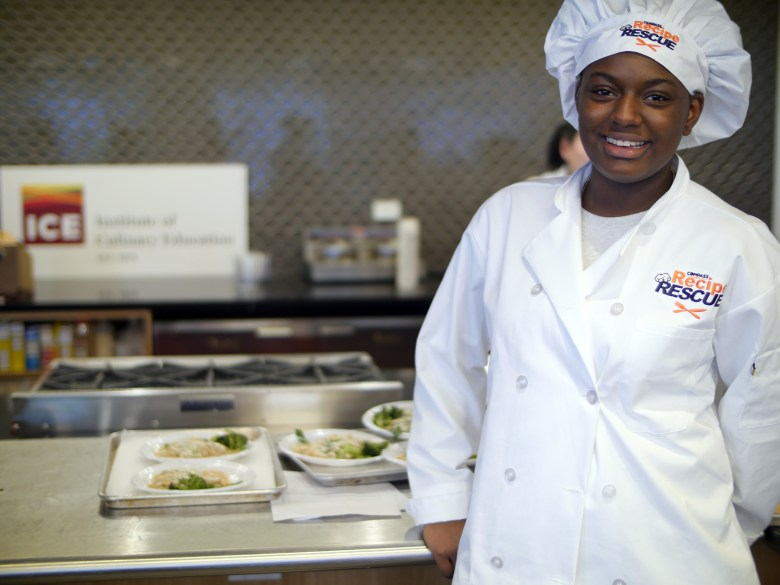 Cheyenne Washington, 15, fourth-place winner of the 2016 Recipe Rescue cooking competition