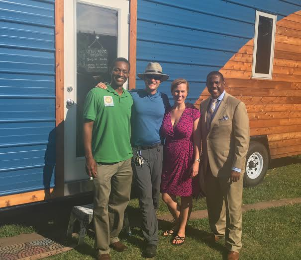 State senator kevin parker, tiny homes, proof is positive tour, sustainable energy