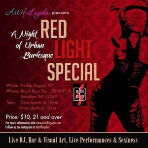 Burlesque, Brooklyn Events, Brooklyn, Dance, Friday Night, Red Light Special