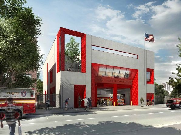 Crown Heights, Studio Gang, new firehouse, futuristic, FDNY