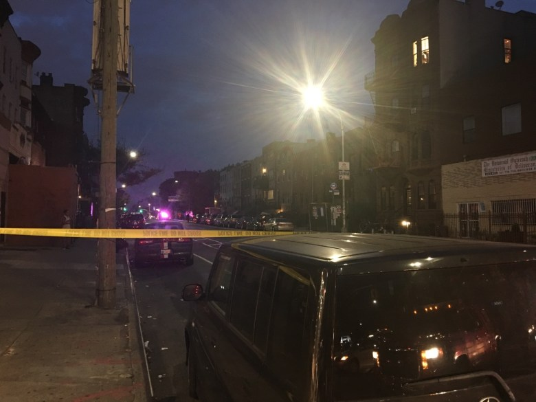 NYPD and FDNY blocked off Bedford Avenue between Dekalb and Myrtle avenues Sunday night to investigated a reported bomb threat