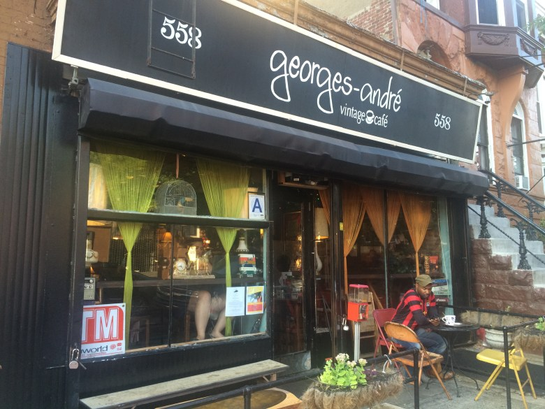 The storefront of the Georges-Andre Cafe