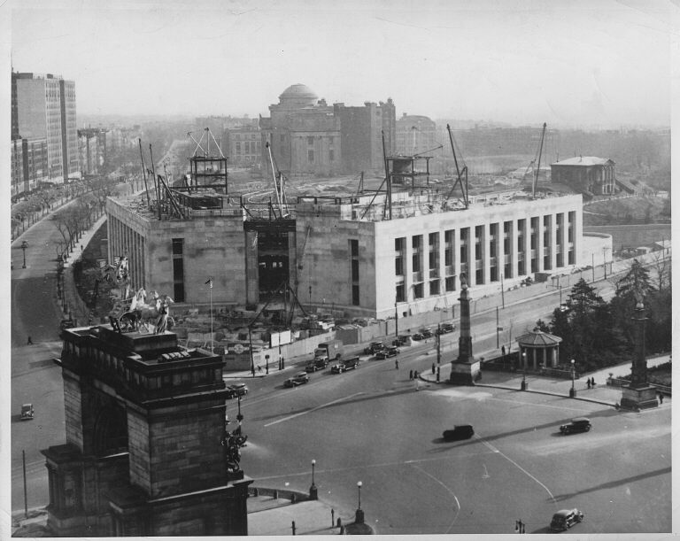 The Brooklyn Public Library during construction, 1941 Photo: brooklynology.org