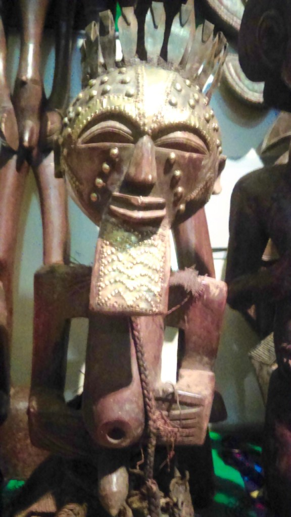 Warrior statue on view now at the Bedford Stuyvesant Museum of African Art