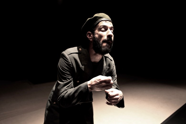 """Anmar Taha, creator, actor, in """"Pillars of Blood"""" at the Cairo International Theater Festival"""