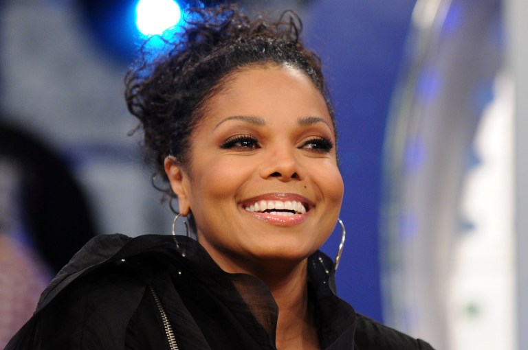 NEW YORK - MARCH 31:  Singer Janet Jackson visits BET's 106 & Park at BET Studios on March 31, 2010 in New York City.  (Photo by Bryan Bedder/Getty Images)