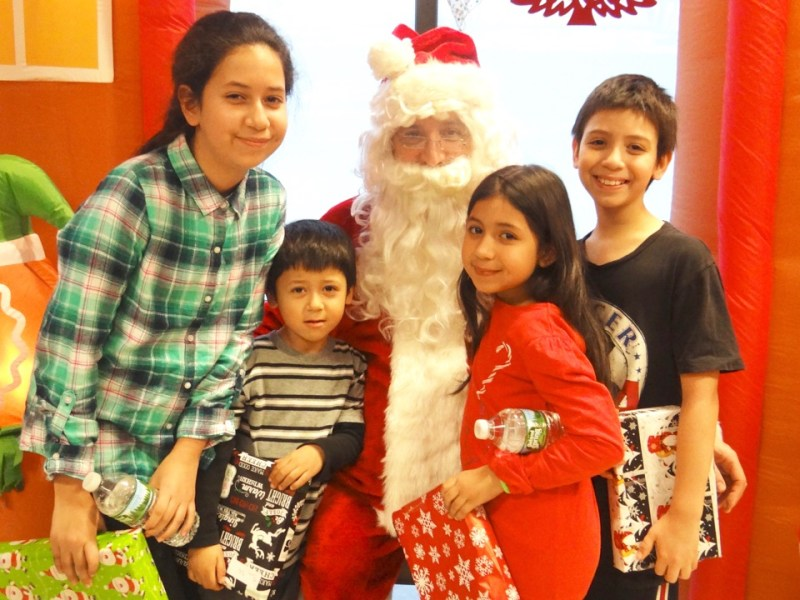 Healthfirst, toy giveaway, picture with Santa, Brownsville Multi-Service Center, Brooklyn