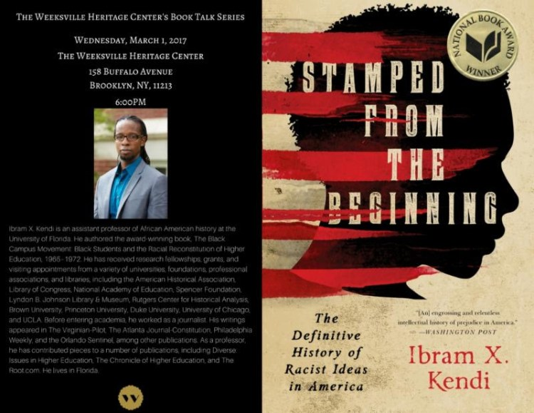 Ibram X. Kendi of his new book, Stamped From the Beginning: The Definitive History of Racist Ideas in America